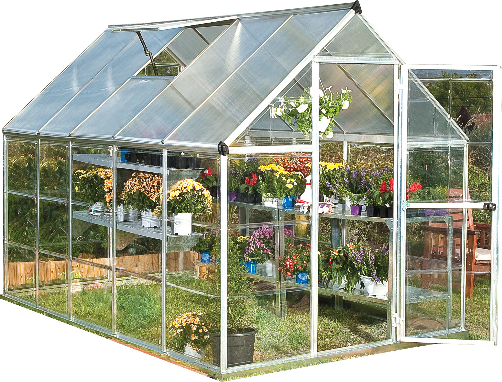 Palram Hybrid Greenhouse, 6' x 10', Silver by Palram