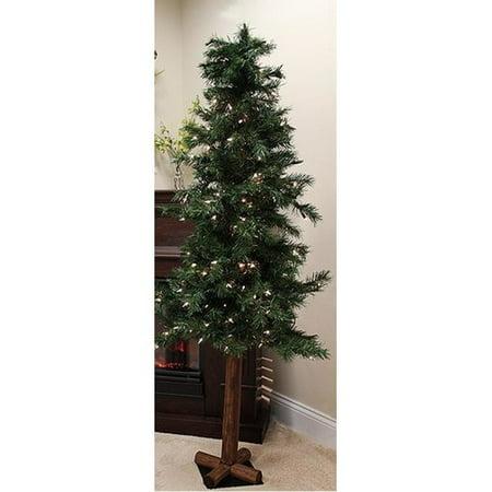 Northlight Seasonal Woodland Alpine 8' Green Pine Artificial Christmas Tree with 400 Clear Lights