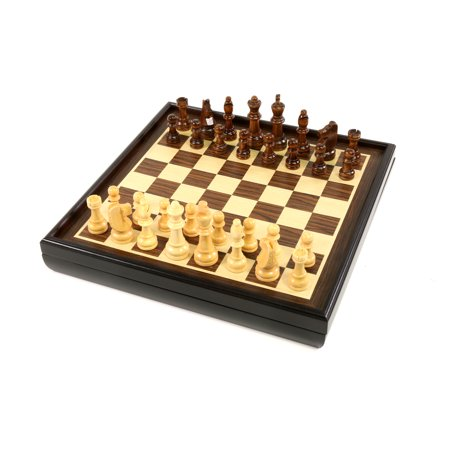 - Craftsman Natural Wood Veneer Deluxe Chess Set