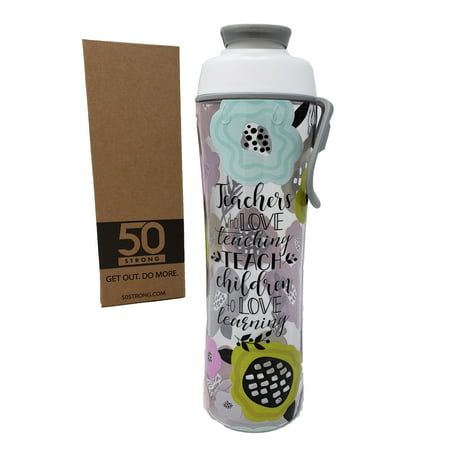 Teacher Water Bottle - 24 oz. 30 oz. BPA Free - Best Christmas Gift for Teachers - Give Bottles As Thank You Gifts - Show Appreciation for Teachers - Easy Carry (Best Water Bottle Bong)