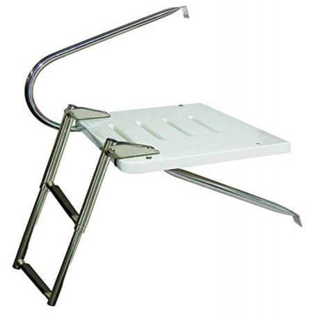 - JIF MARINE EKU4 3-Step O/B Transom Platform W/1 Arm Ss 316 Telescoping Mt Top