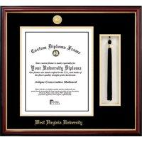 West Virginia University 11w x 14h Tassel Box and Diploma Frame