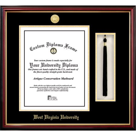 Virginia Diploma Frames - West Virginia University 11w x 14h Tassel Box and Diploma Frame