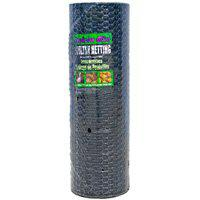 Jackson Wire 12014529 Poultry Netting, Black Vinyl Coated, 1x36Inchx150Foot