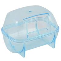 Unique Bargains Mice Pet Gerbil Hamster Sand Bathroom Sauna Toilet Case Cage Box 2pcs