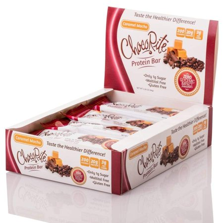 ChocoRite 20g Uncoated Protein Bars by HealthSmart - Caramel (Best Protein To Eat For Weight Loss)