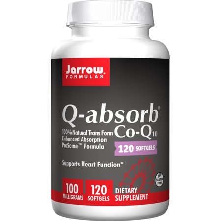 Heart Support Formula (Jarrow Formulas Q-Absorb Co-Q10, Supports Heart Function, 100 mg, 120)