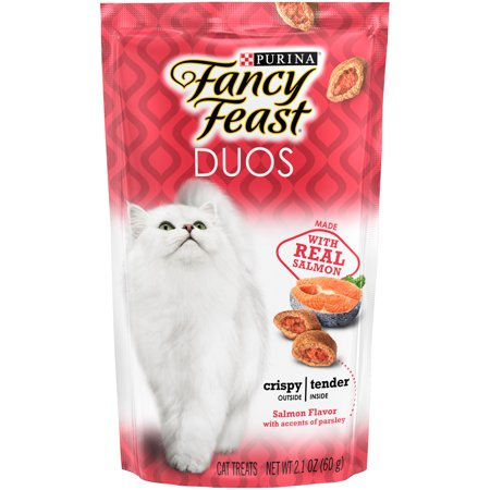 Purina Fancy Feast Duos Salmon Flavor Cat Treats 2.1 oz. Pou