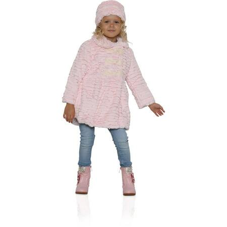 cd821835d898 Widgeon Little Girls  3 Bow Faux Fur Coat with Hat