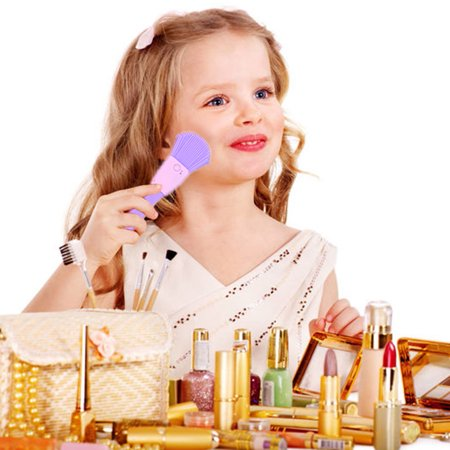 Little Girls Kids Pretend Play Makeup Dressing Cosmetic Kit Learning Beauty Preschool Toys,Make Up Toy, Girls Makeup Toy - Halloween Little Girl Makeup