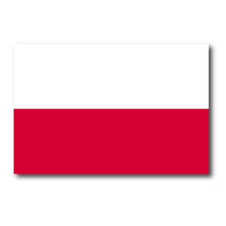 Poland Polish Flag Car Magnet Decal - 4 x 6 Heavy Duty for Car Truck SUV … (Polish Flag Car Decal)