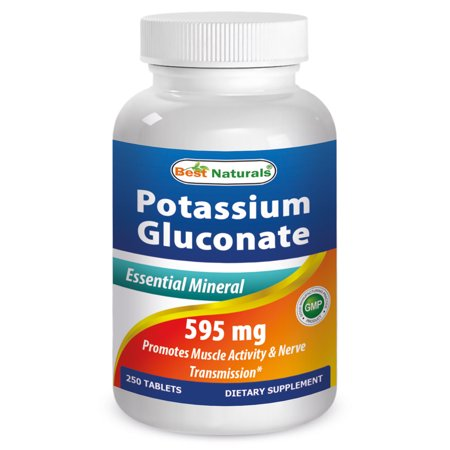Best Naturals Potassium Gluconate Supplement 595 mg 250
