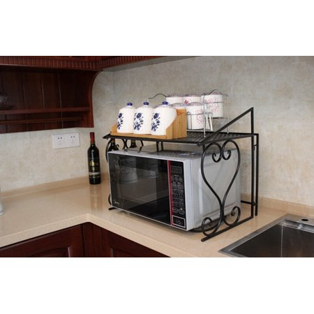 Metal Microwave Oven Rack /Shelf Kitchen Shelves Counter and Cabinet Shelf by Dazone