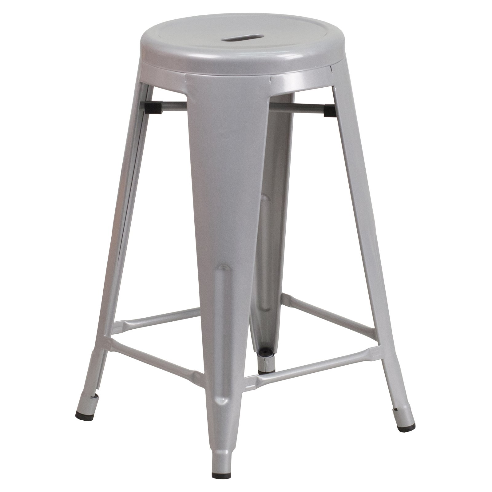Flash Furniture Carlisle 24 in. Metal Counter Stool