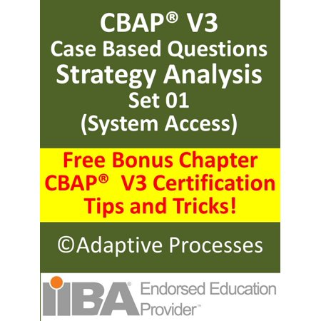 CBAP V3 Case Study based Sample Questions Strategy Analysis Set 01 -