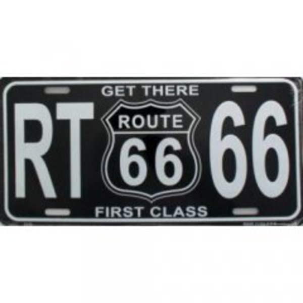 Get There 1st Class Route 66 License Plate