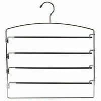 Metal Multi Pant Hanger (Set of 3)Great Closet Space Saver! By ClosetHangerFactory