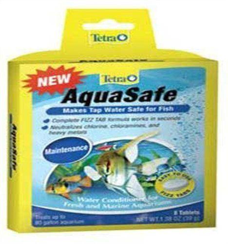 Tetra Tetra Aquasafe Tabs Aquarium Water Treatment - 8 Pack