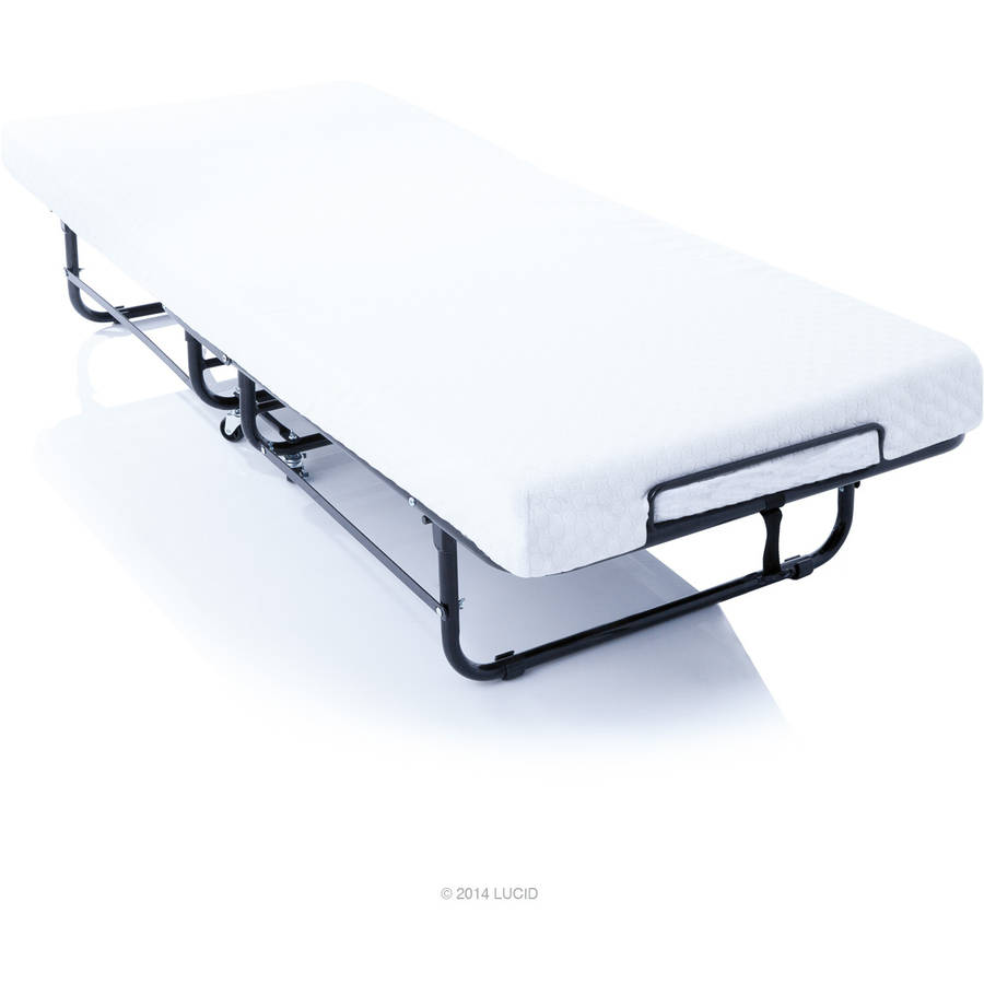 Lucid Rollaway Folding Guest Bed with Memory Foam Mattress Walmartcom