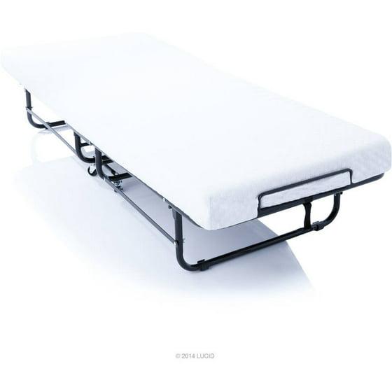 Lucid Rollaway Folding Guest Bed with Memory Foam Mattress ...