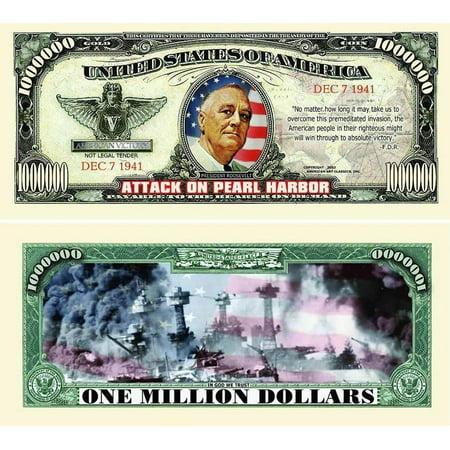 "Harbor House Coupons (5 Pearl Harbor Million Dollar Bills with Bonus ""Thanks a Million"" Gift Card Set )"