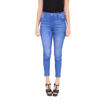 Celebrity Pink Jeans Women High Rise Ankle Skinny Jeans with Whisker Detail MADE WITH ORGANIC COTTON ECO FRIENDLY DENIM 1 Medium Denim