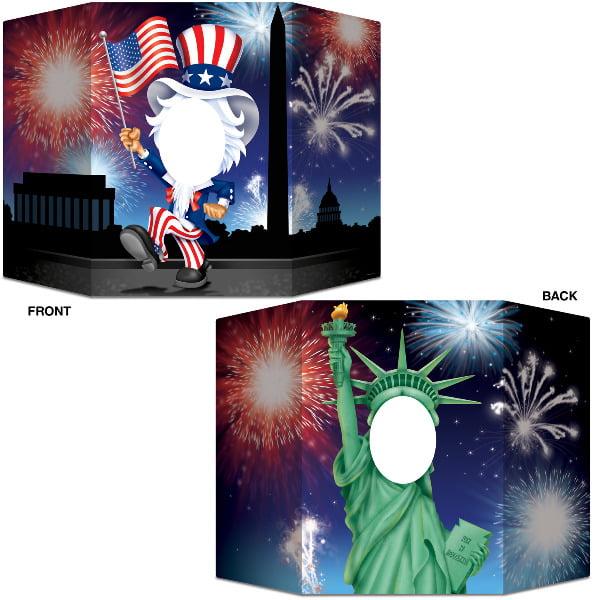 Bulk Buys Patriotic Photo Prop -  Case of 12