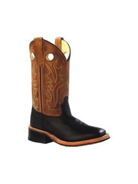 Children's Old West 9 Inch Broad Square Toe Cowboy Boot - Child