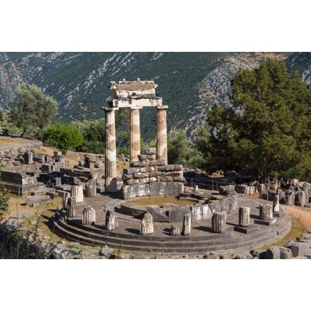 Delphi Phocis Greece The Tholos Dating From Around 380 360 Bc Beside The Sanctuary Of Athena Pronaia Ancient Delphi Is A Unesco World Heritage Site Poster Print By Panoramic Images  36 X 24