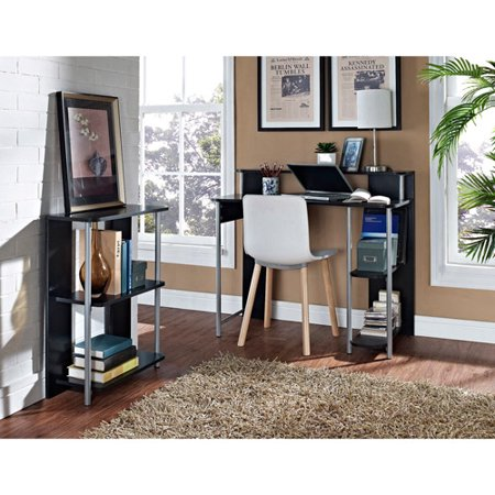 Desk With Bookcase Combo Blackgray