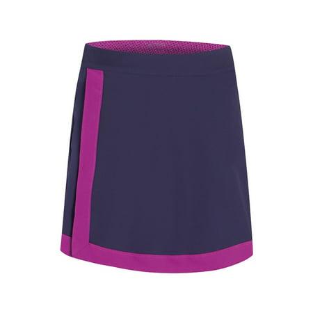 New Women's Adidas Tour Geo Midnight Ink Golf Skort Pull on Style - Pick Size