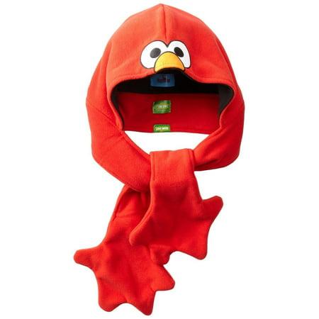 Elmo Red Sesame Street Little Boys (One Size) Winter Fleece Hat Hood 56
