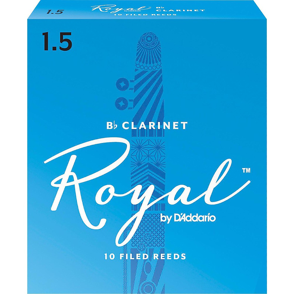 Rico Royal Bb Clarinet Reeds, Box of 10 Strength 1.5