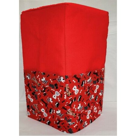 Canvas Puppy Dogs Coffee Maker Cover (Red)