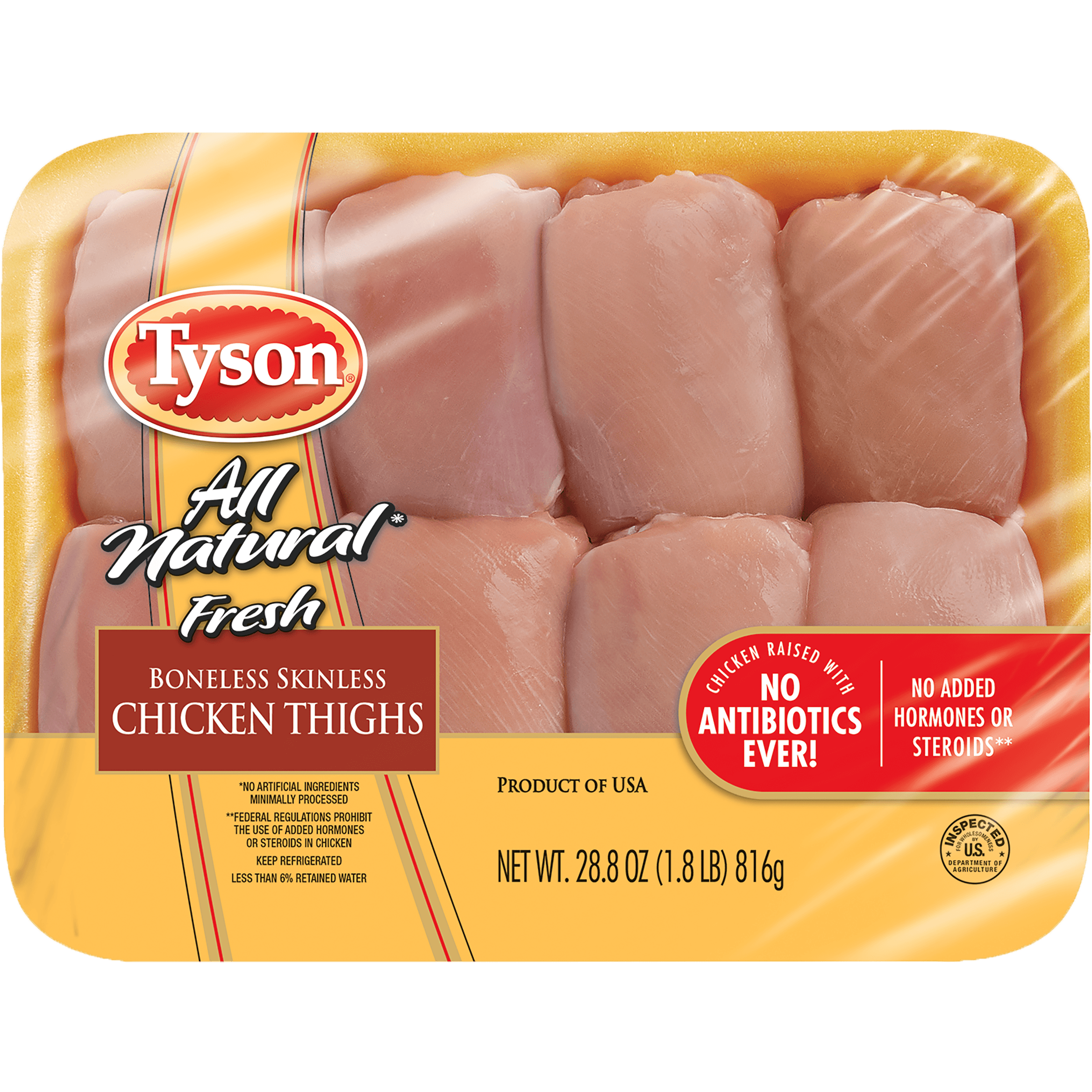 Tyson�� All Natural Fresh Boneless Skinless Chicken Thighs, 1.8 lb