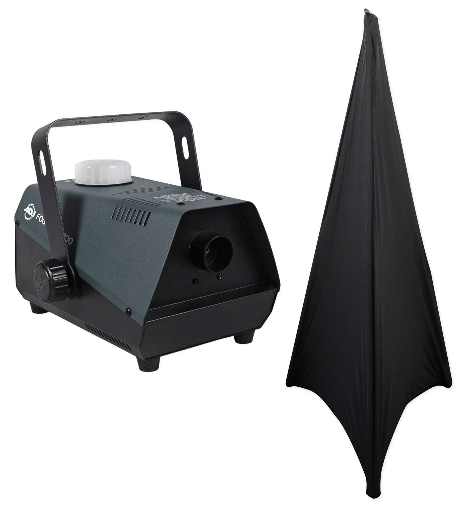 American DJ Fog Fury 1000 650 Watt Fogger Fog Machine w Wired Remote+Free Scrim by American DJ