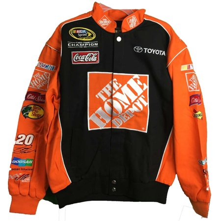 Tony Stewart #20 Home Depot Vintage Trackside Orange/Black Adult Jacket (X-Large)
