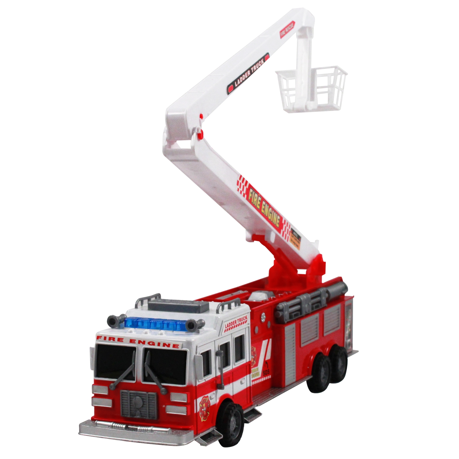 "Friction Power Fire Truck 17"" Firefighter Rescue Engine Toy by KidPlay Products"