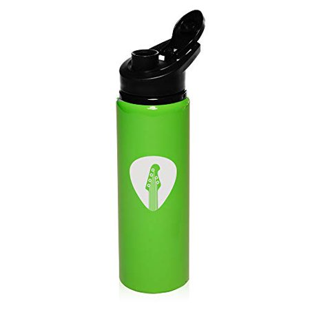 - MIP Brand 25 oz Aluminum Sports Water Travel Bottle Guitar Pick (Bright-Green)