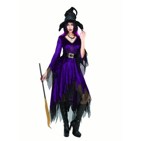 Women Witch Costume Sorceress Dress with Wizard Hat for Halloween Cosplay Party - Black Dress For Halloween Party