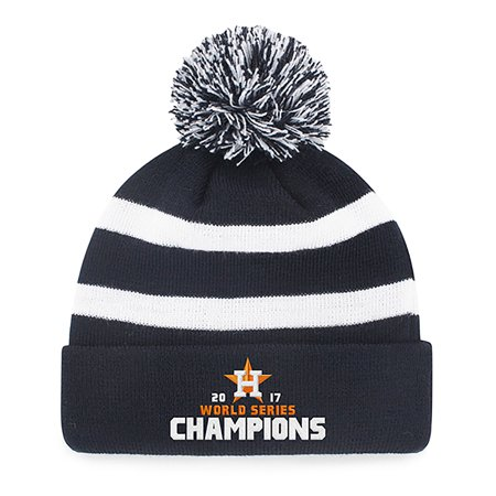 c705526a794 MLB World Series Champions Houston Astros Breakaway Knit Beanie with Pom by  Fan Favorite - Walmart.com