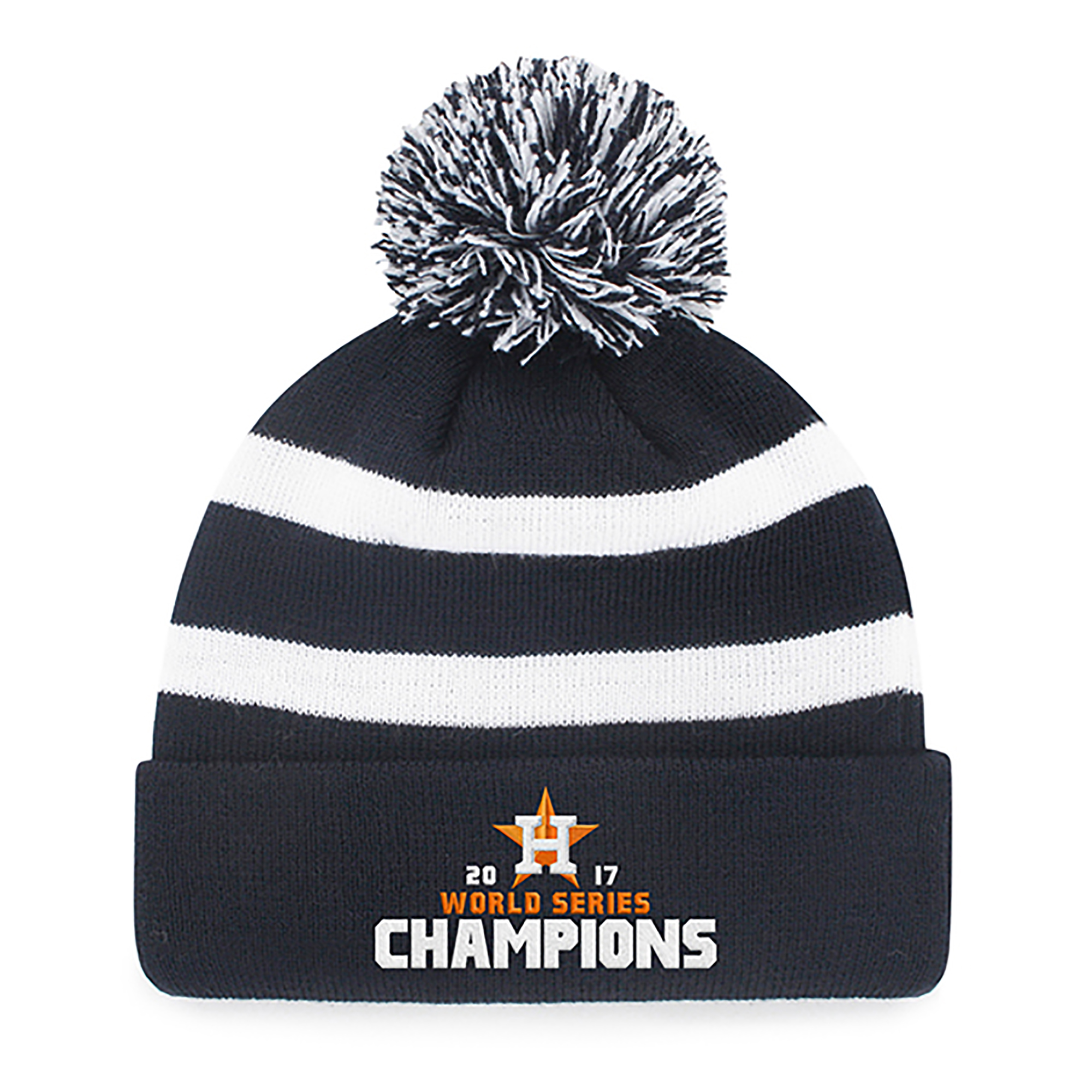 MLB World Series Champions Houston Astros Breakaway Knit Beanie with Pom by Fan Favorite