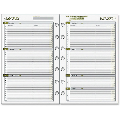 Day Runner Weekly Planner Loose-Leaf Refill