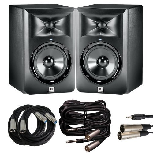 JBL LSR 305 Studio Monitor Pair with XLR for Mixing Board...