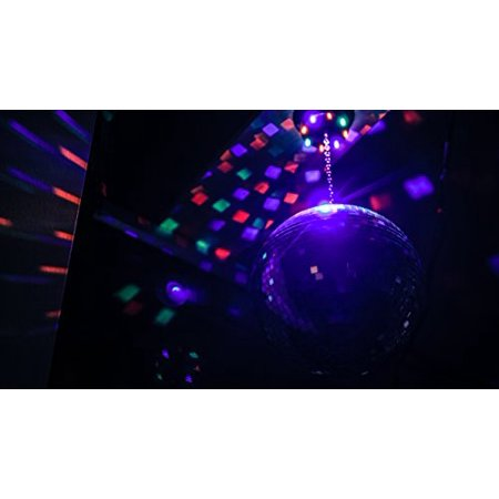 10-inch Mirror Ball & Motor with LED Lights
