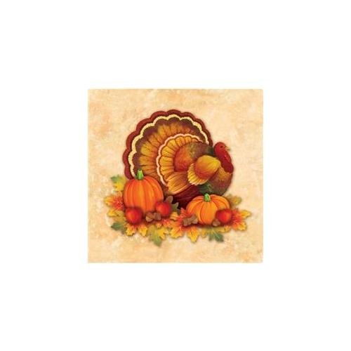 Creative Converting Thanksgiving Scroll Beverage Napkins