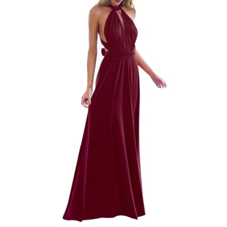 Cocktail Bridesmaids Dresses - Women Evening Dress Convertible Multi Way Wrap Wedding Bridesmaid Formal Long Maxi Dress Cocktail Party Prom Ball Gown