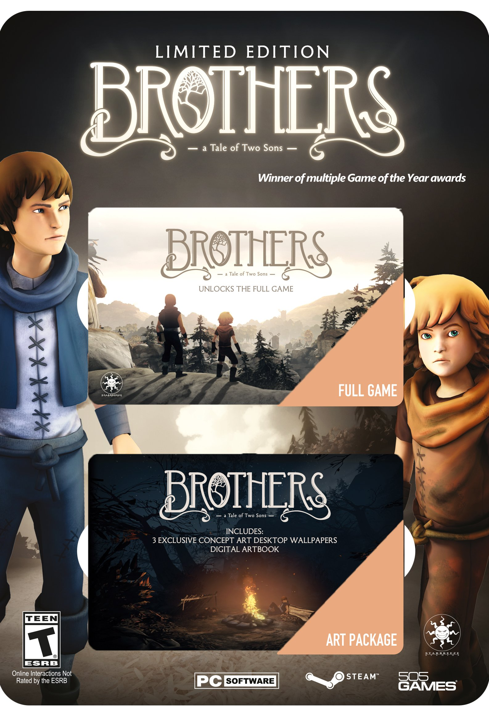 Brothers, 505 Games, PC Software, 812872018263