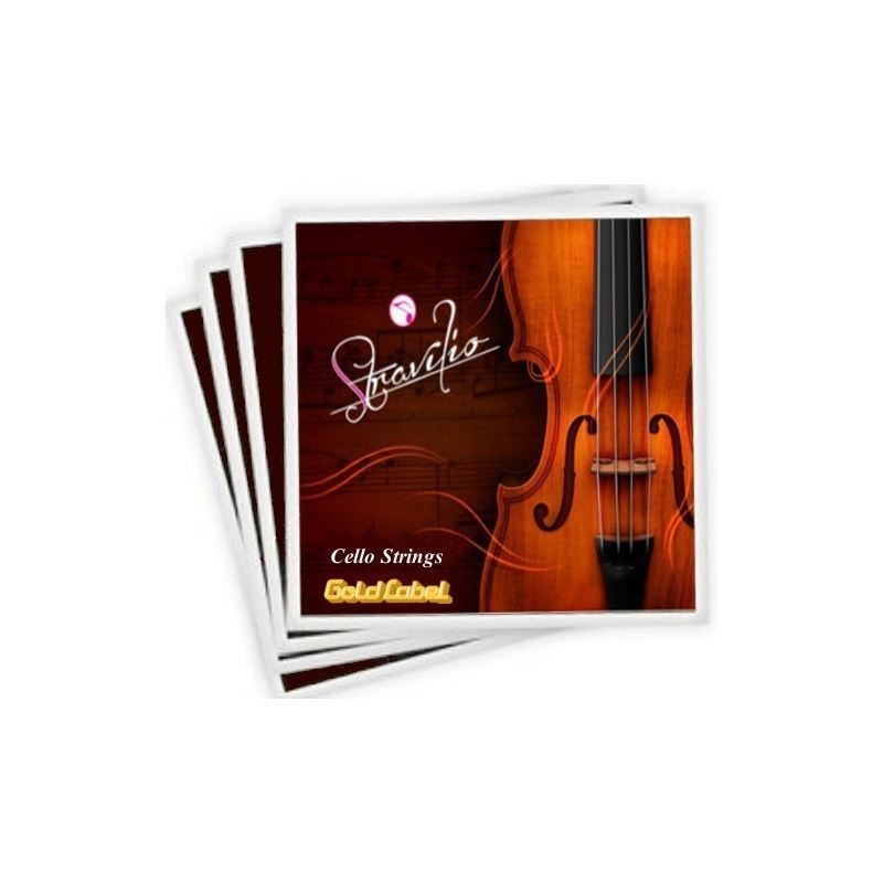 Full Set Of High Quality Cello Strings Size 4 4 3 4 Cello Strings, A D G C (GOLD LABEL) by