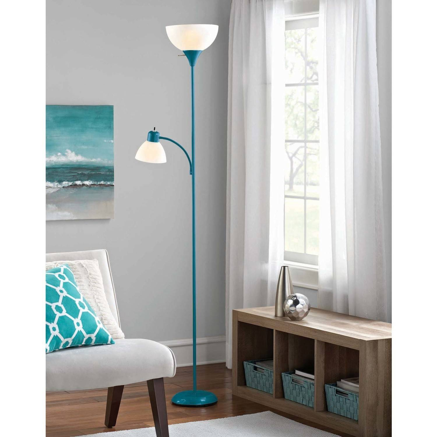 Adesso 6' Floor Lamp with Reading Light by Generic